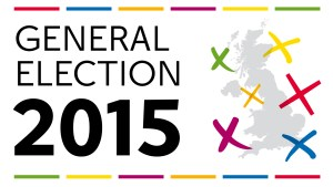 Image of the British Isles with the text 'General Election 2015'