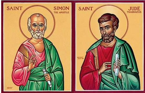 An Orthodox-style icon depicting Saints Simon and Jude