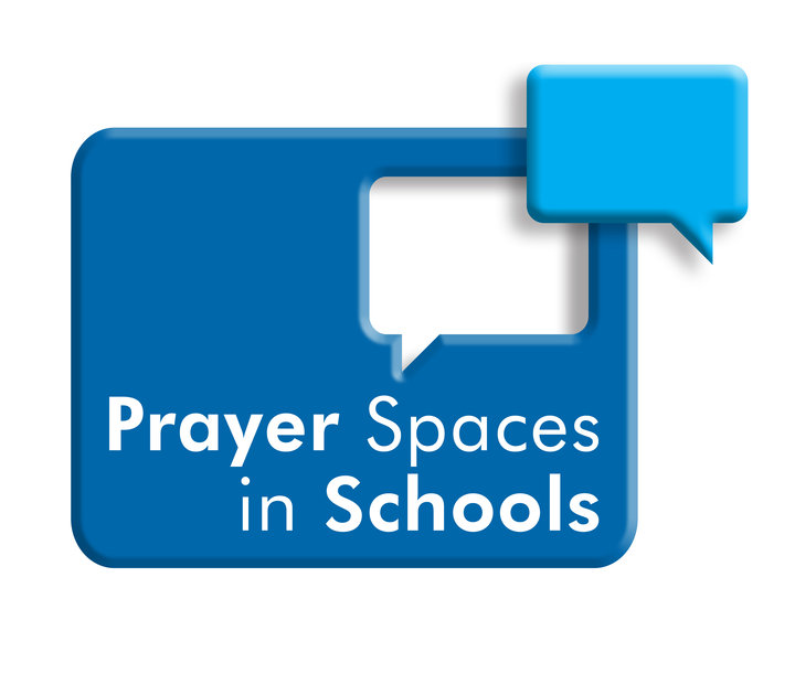 Blue logo stating 'Prayer Spaces in Schools'