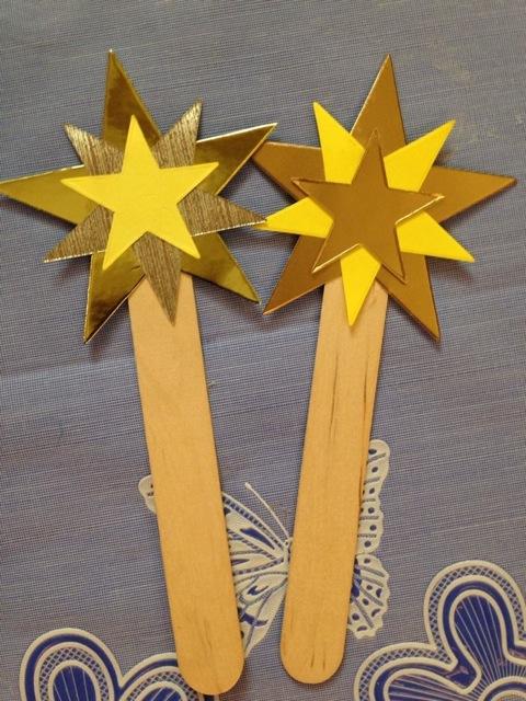 Stars on sticks