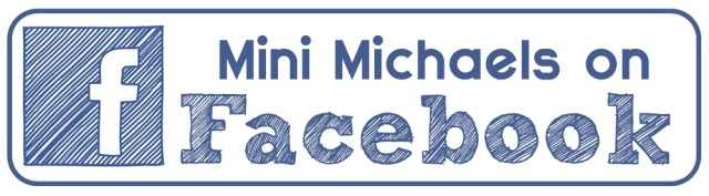"An icon for Facebook with the words ""Mini Michaels on Facebook"""