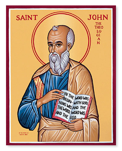 A traditional icon of St John the Evangelist