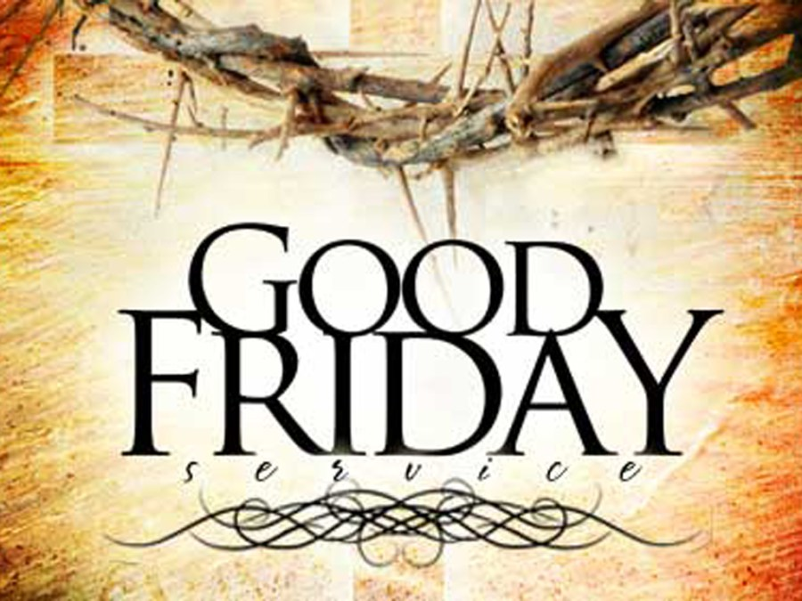 """An image of a crown of thorns with the text """"Good Friday"""""""
