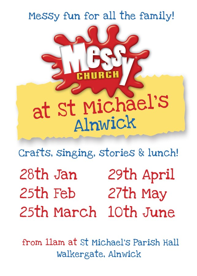 A poster with dates for Messy Church at St Michael's