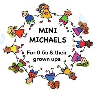 Clipart of children in a circle with the words 'Mini Michaels'