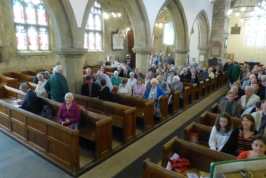 A photograph of the congregation at St Michael's