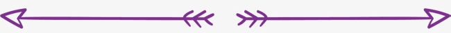 Two purple doodle-like arrows used as a separating line