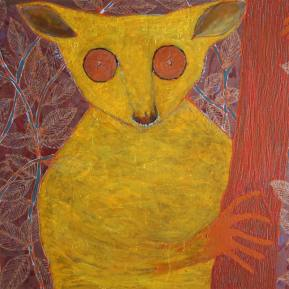 29Bush-Baby-Acrylic-and-glitter-on-canvas-130-x-89-cm-2012
