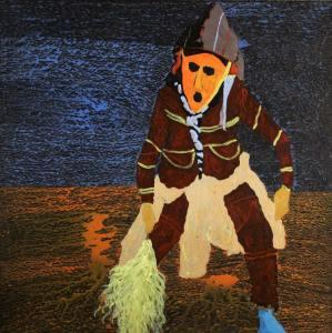 36Masquerade-Acrylic-and-glitter-on-canvas-150-x-150-cm-2011