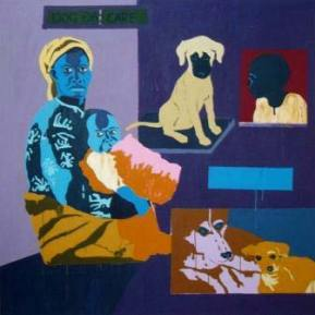 48Dog-day-care-Acrylic-on-Canvas-195-x-195-cm-2005