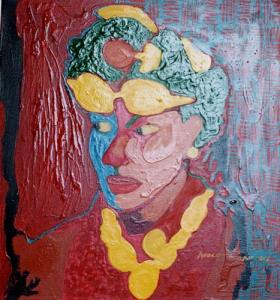 62Woman-with-a-Yellow-neck-Chain-Acrylic-on-Canvas-60-x-80-cm-2002