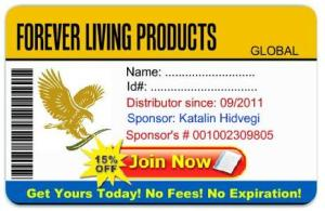 Forever Living Discount Card Sample