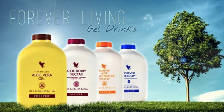 forever living products aloe drinks banner