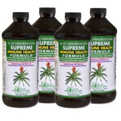 aloe barbadensis four bottles