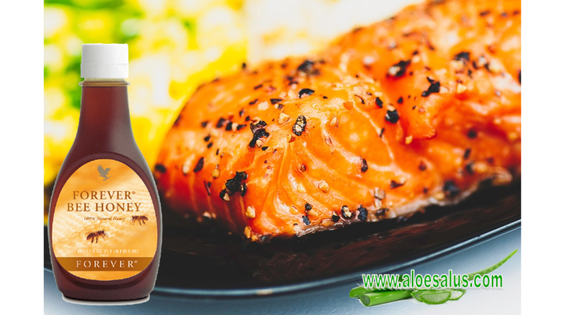 Salmone con Forever Bee Honey