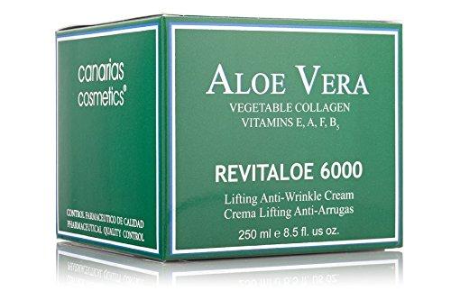 Canarias Cosmetics Revitaloe 6000 Crema con Colágeno natural Anti-arrugas y Reafirmante 250ml