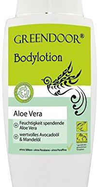 Greendoor Loción corporal Aloe Vera 250ml, calidad de fabricación superior Sin Silicona