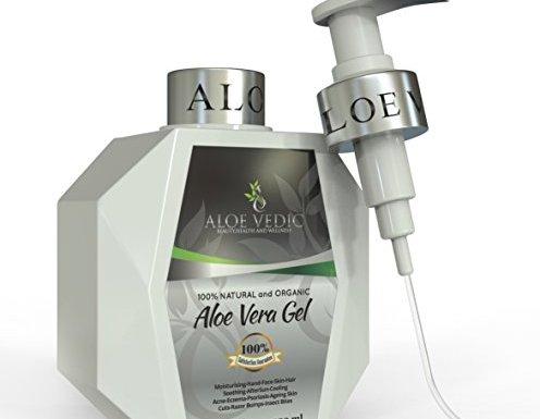 AloeVedic – Relajante gel para la piel de aloe vera ecológico, 450 ml