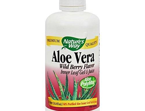 Pack de 1x forma de la naturaleza Aloe Vera Gel y zumo Wild Berry–33.8fl oz