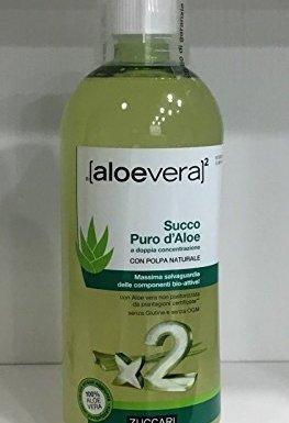 ZUCCARI JUGO DE PURO POR ALOE VERA doble concentración 1000 ml