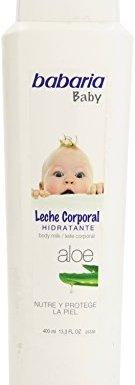 Babaria Baby – Leche corporal hidratante – Nutre y protege la piel – 400 ml
