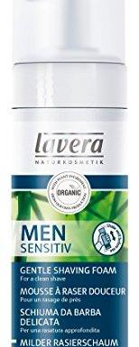 Lavera Men Sensitiv Espuma de Afeitar – aloe vera orgánico &  nutritivo aceite de jojoba – vegano – cosméticos naturales 100% certificados – cuidado de la piel – 150 ml
