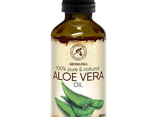 Aceite de Aloe Vera 50ml – Aloe Barbadensis – Brasil – 100% Puro y Natural – Botella de Cristal – Cuidado Intensivo para el Rostro – Cuerpo – Cabello – Masaje – Cosmético para el Cuidado Corporal