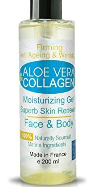Gel de Aloe Vera y Colágeno Antiarrugas – 200 ml Cara y Cuerpo Gel Hidratante Reafirmante – Escote – Anti Estrias