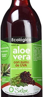 Saloe Jugo Aloe Vera y Uva Ecológico – 3 Recipientes de 1000 ml – Total: 3000 ml