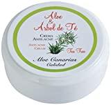 Aloe Canarias 200010 – Crema de aloe vera y árbol del té, anti-acné