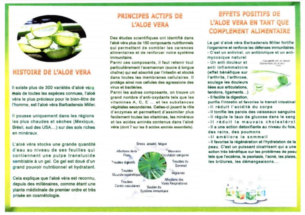 Résumé sur l'Aloe-Vera