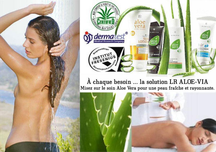 LR ALOE-VIA - À chaque besoin la solution du soin Aloe Vera. Misez sur les soins Aloe Vera pour une peau fraîche et rayonnante.