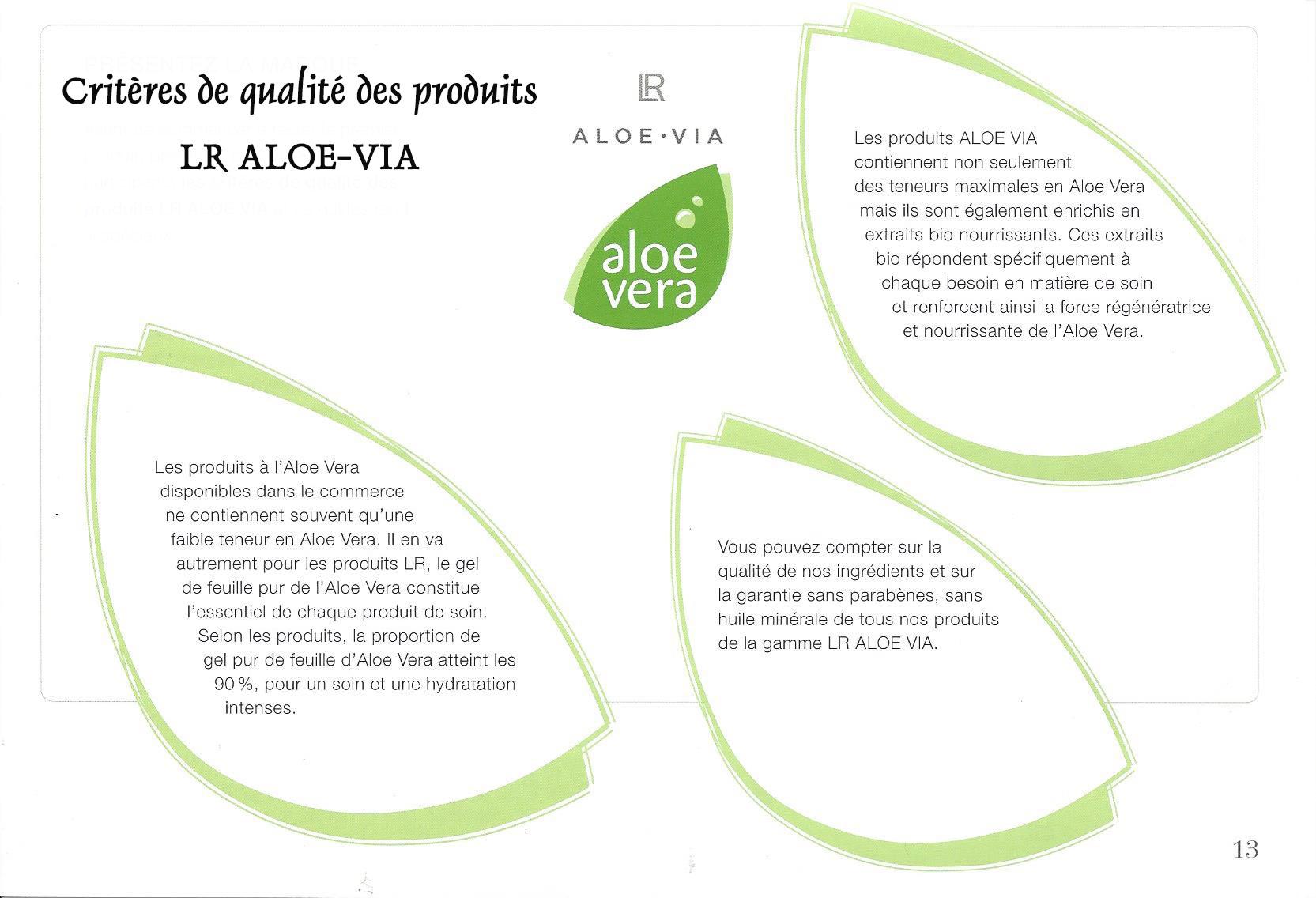 LR ALOE-VIA la marque déposée vers l'efficacité et la qualité des soins en Aloe Vera !