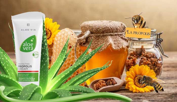 propolis & Aloe vera dans une crème protectrice. Le soin des peaux sensibles