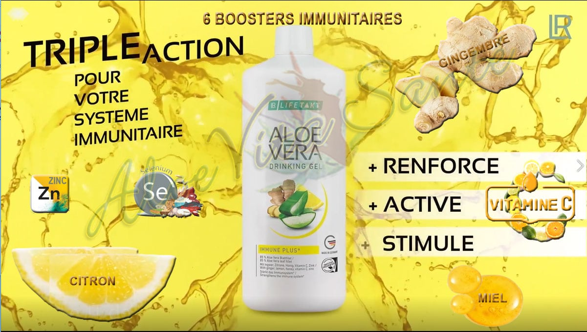 LR Gel aloe Vera Immune Power Plus - triple action pour le système immunitaire