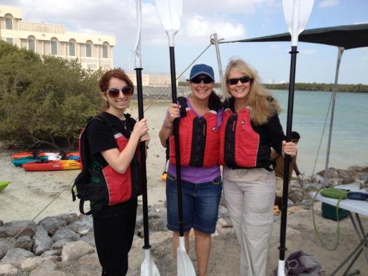 kayaking girls