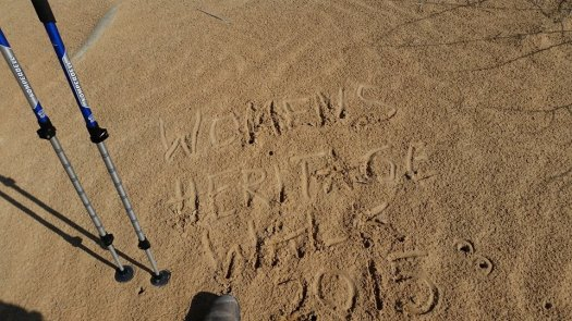 WHW 2015 written in the sand