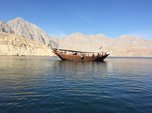dhow cruise along fjords of Oman
