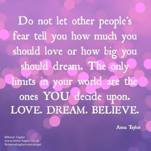 love dream believe