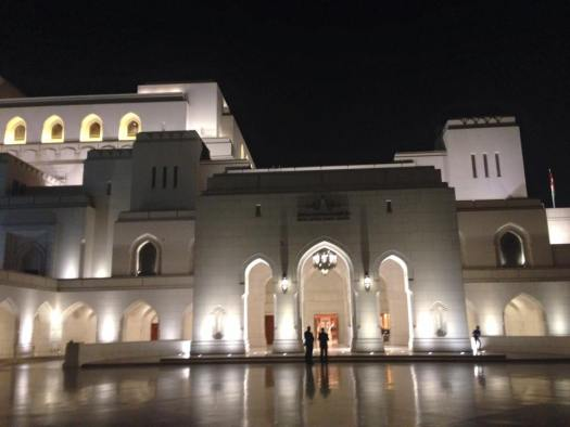 outside the Royal Opera Muscat