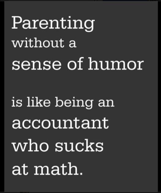 parenting w:o humor...