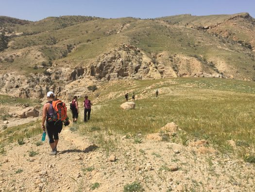we trekked up this mountain range...