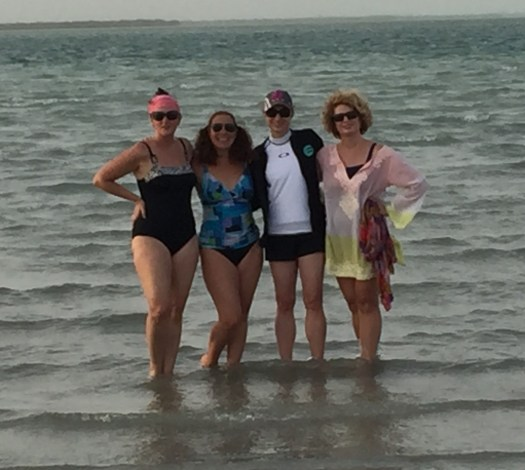 My Texas girlfriends at Yas Kite Beach, Abu Dhabi
