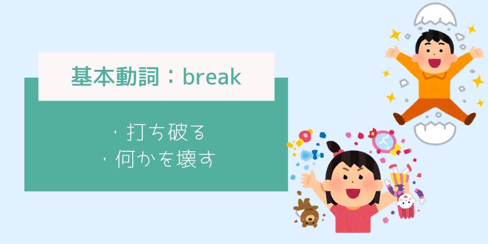 基本動詞_breakのイメージイラスト
