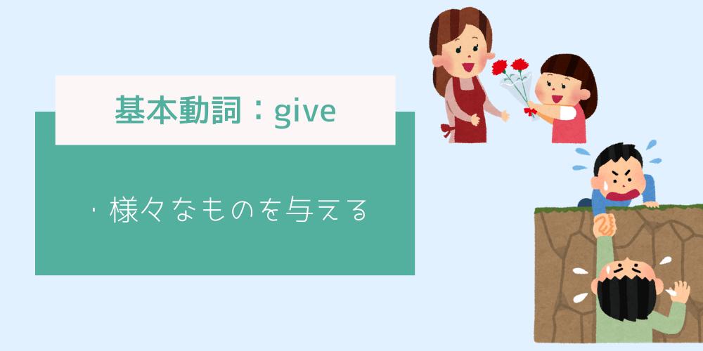 基本動詞_giveのイメージイラスト