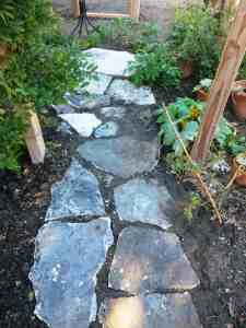 Path to the outdoor shower