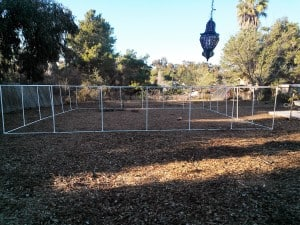 The Middle Garden - 900 sq. ft. covered in mulch, fenced, and ready to plant! Hurray!!!