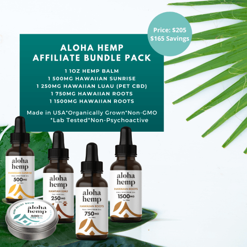 Aloha Hemp Affiliate Bundle Pack