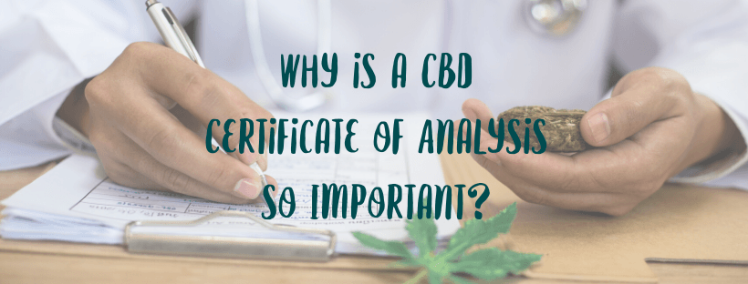 Why is a CBD Certificate of Analysis so Important?