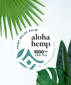 hemp balm - 1000mg - tropical background